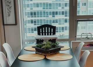 black and white wooden 5-piece dining set