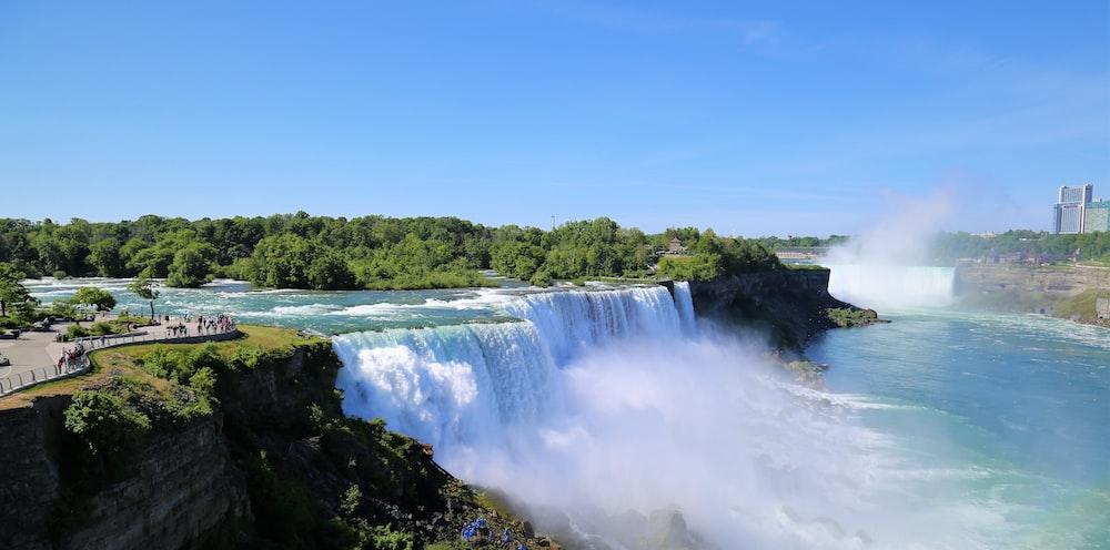 blue river during daytime