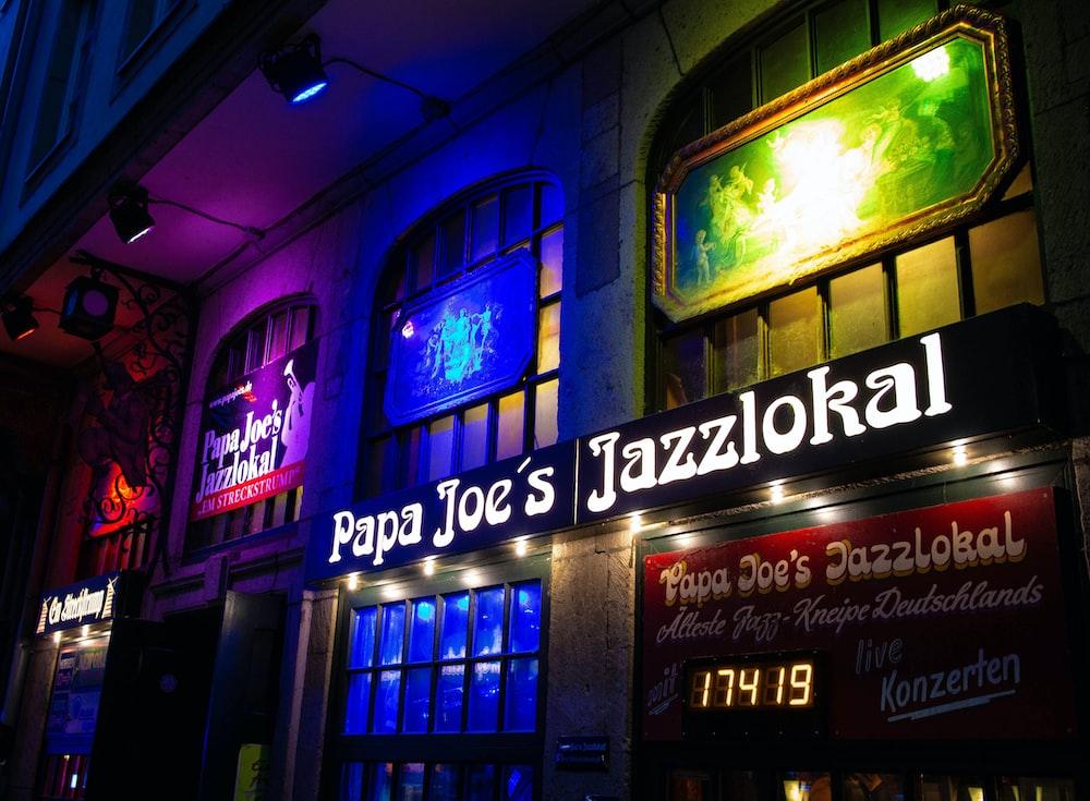 Papa Joe's Jazzlokal store front
