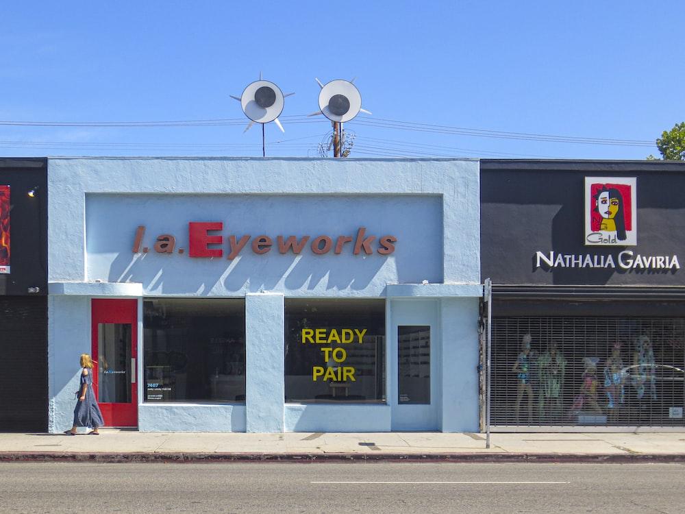 L.A. Eyeworks building near Nathalia Gaviria boutique