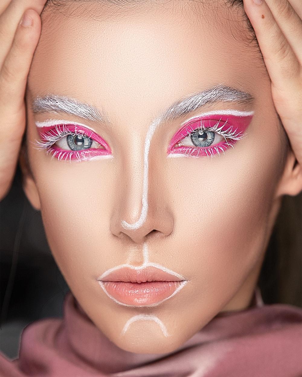 woman wearing mascara