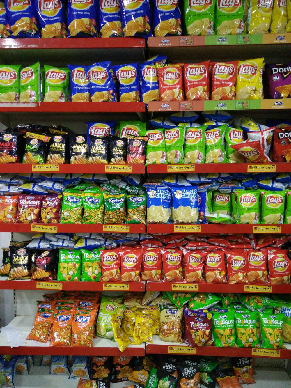 chips on red shelf