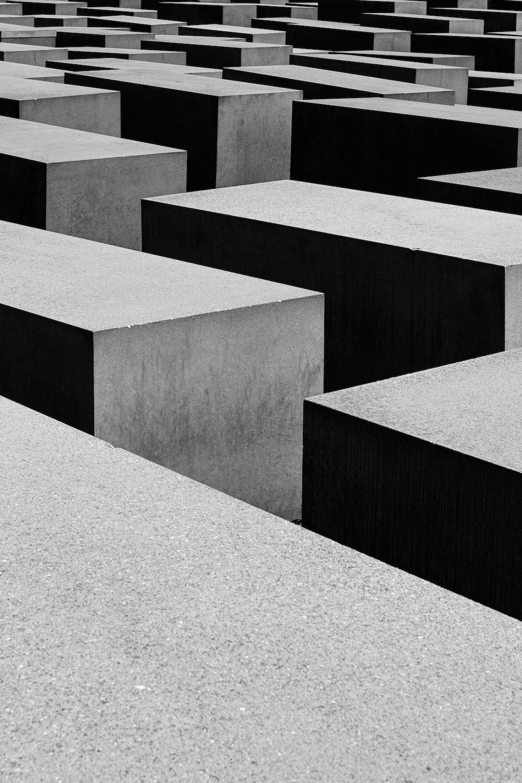 black concrete frame
