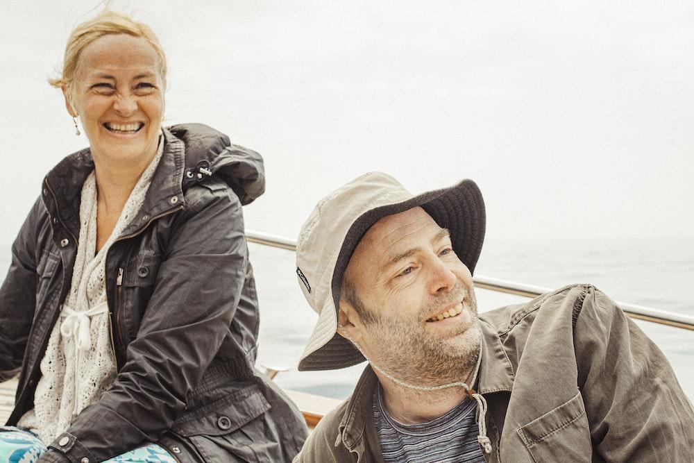 couple sitting on boat