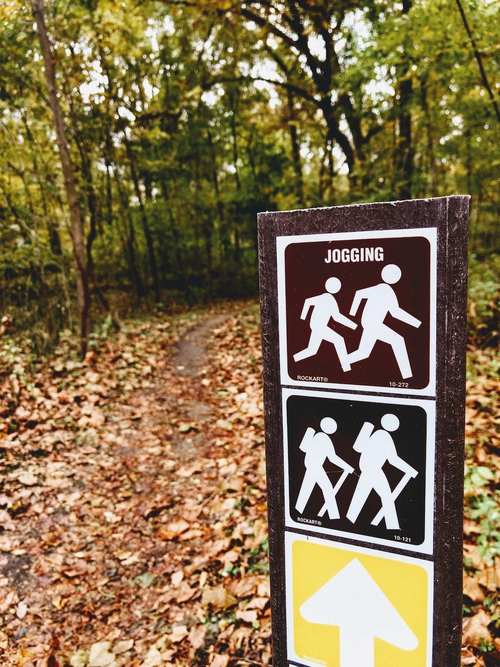Jogging signage