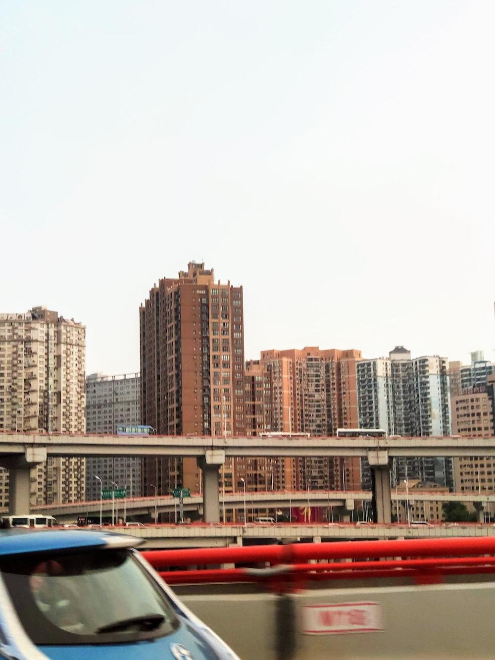 buildings under white sky