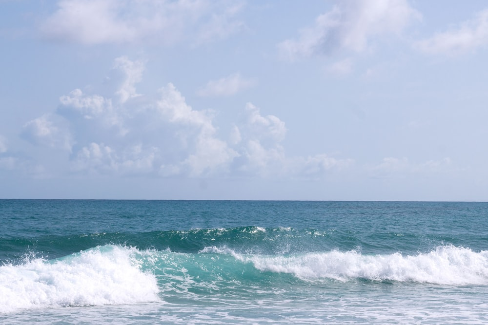 view of sea waves during daytime