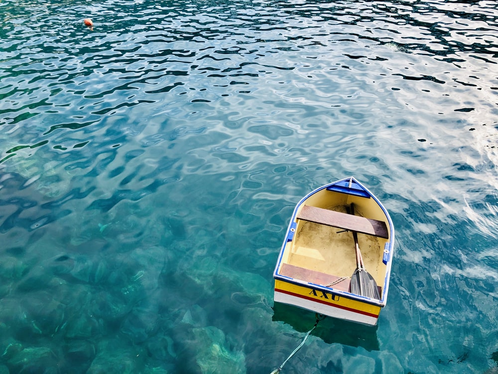 canoe on body of water