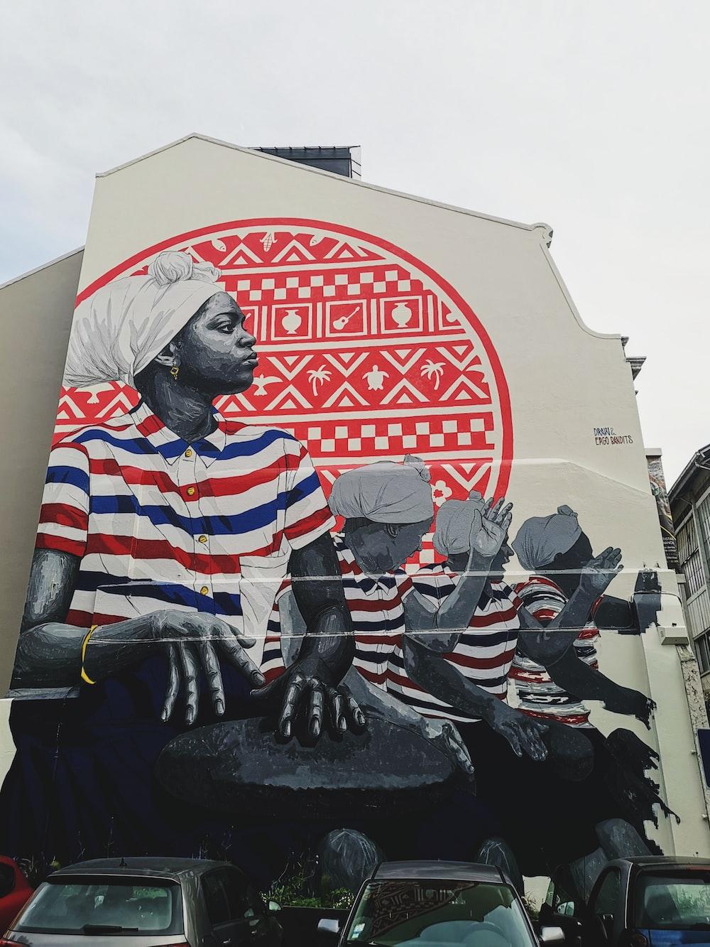 man wall painting