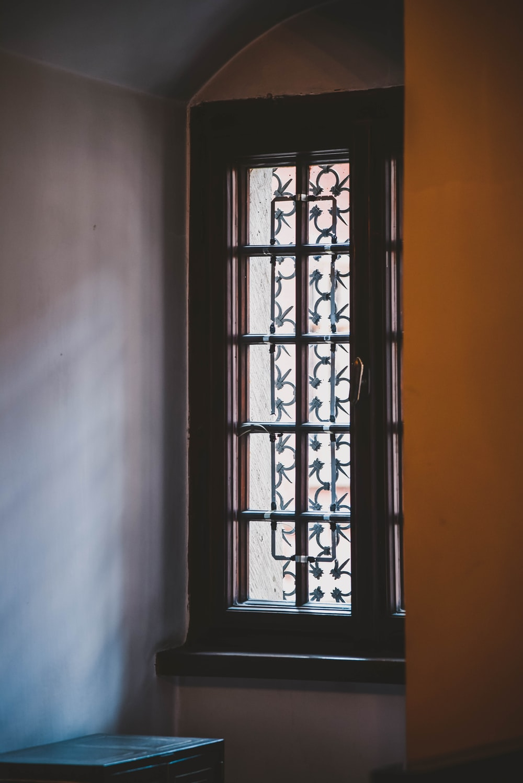 closed brown window