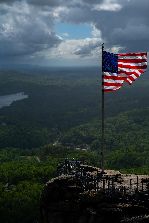 flag of America on pole