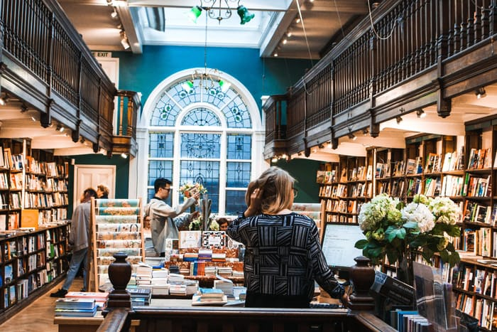 a lovely book shop should be part of your book marketing strategy.