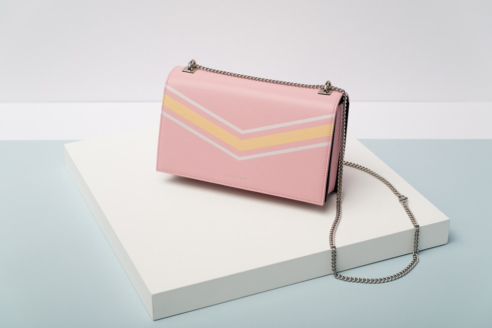 pink leather crossbody bag