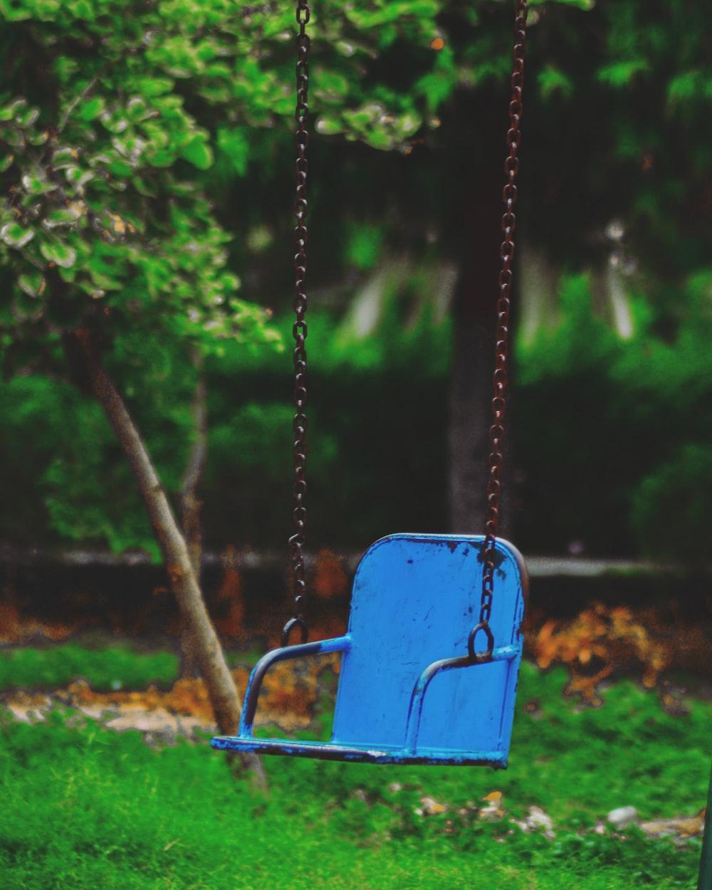blue metal swing