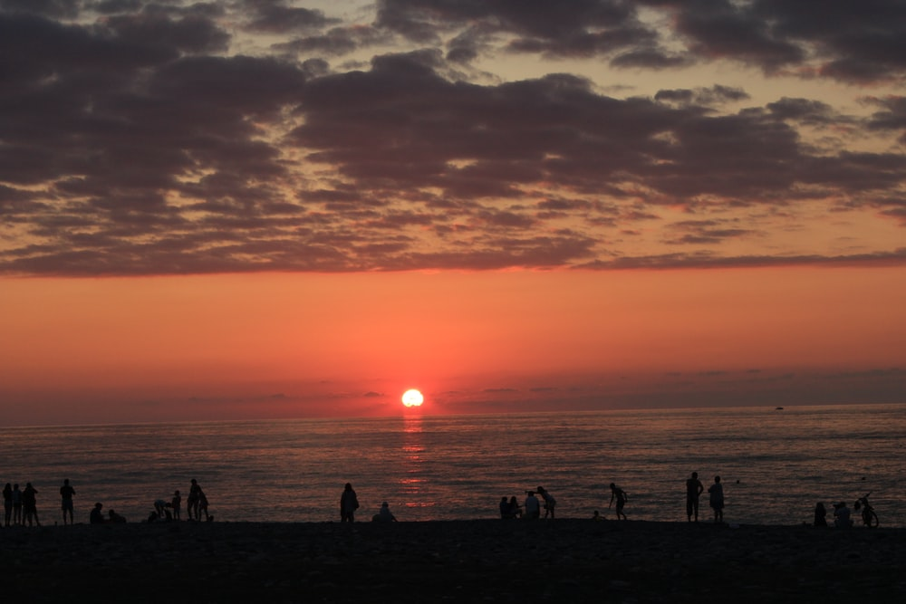 sunset over horizon