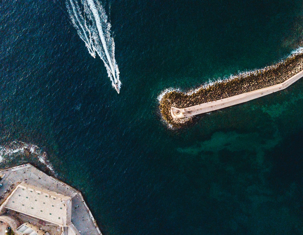 aerial photography of traveling ship during daytime