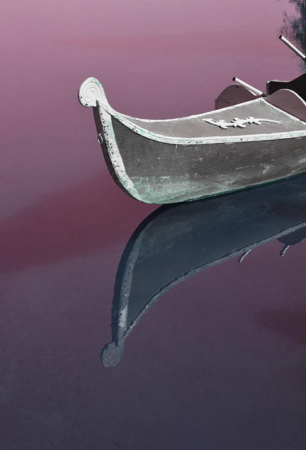 gray boat