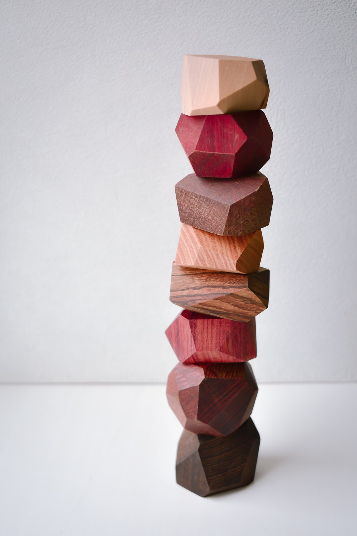 wooden balance stone