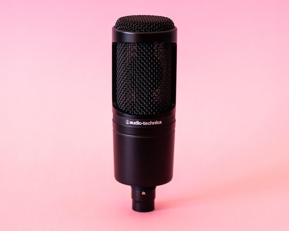 black Audio-Technica condenser microphone
