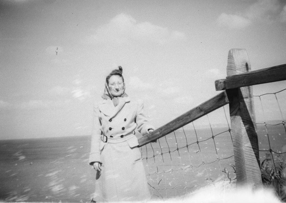 woman standing near dock