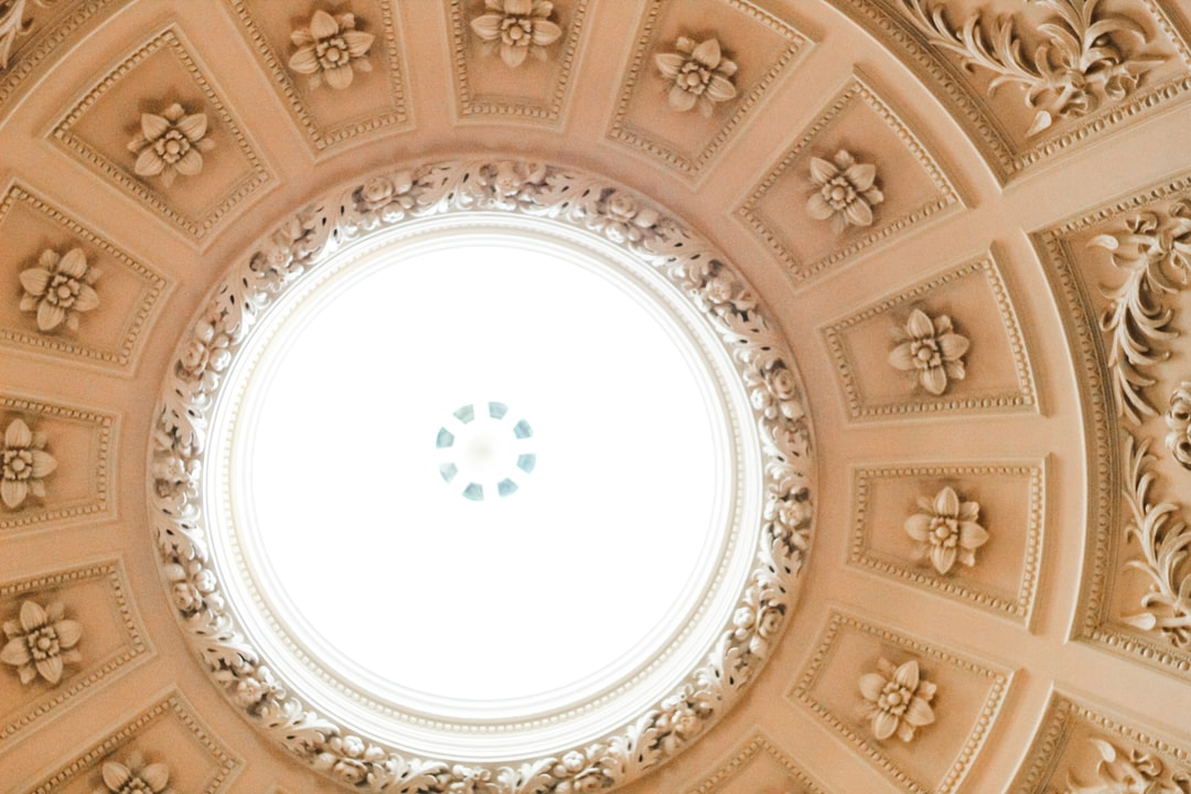 ceiling of Roman Baths museum