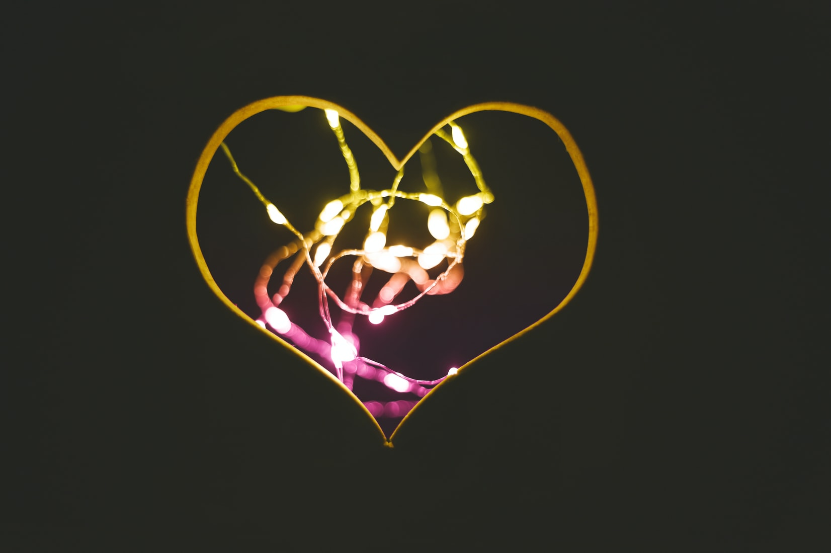 Lit-up heart; the heart wants what the heart wants; find the job you want following your own personal preferences