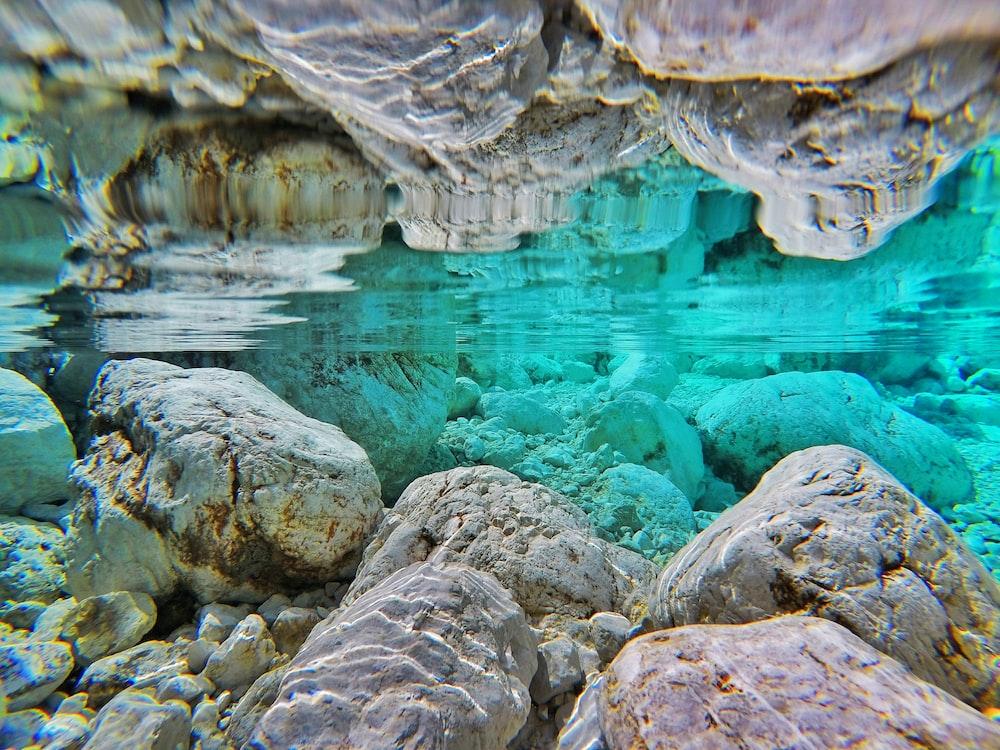 rock underwater