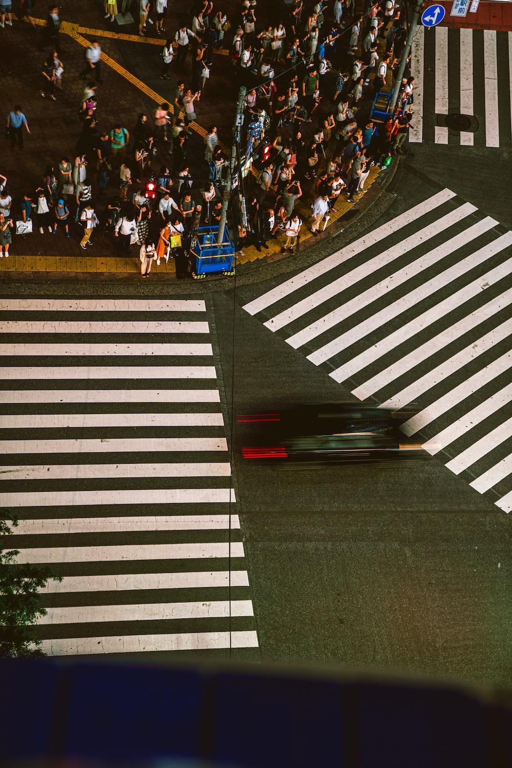 people on sidewalk