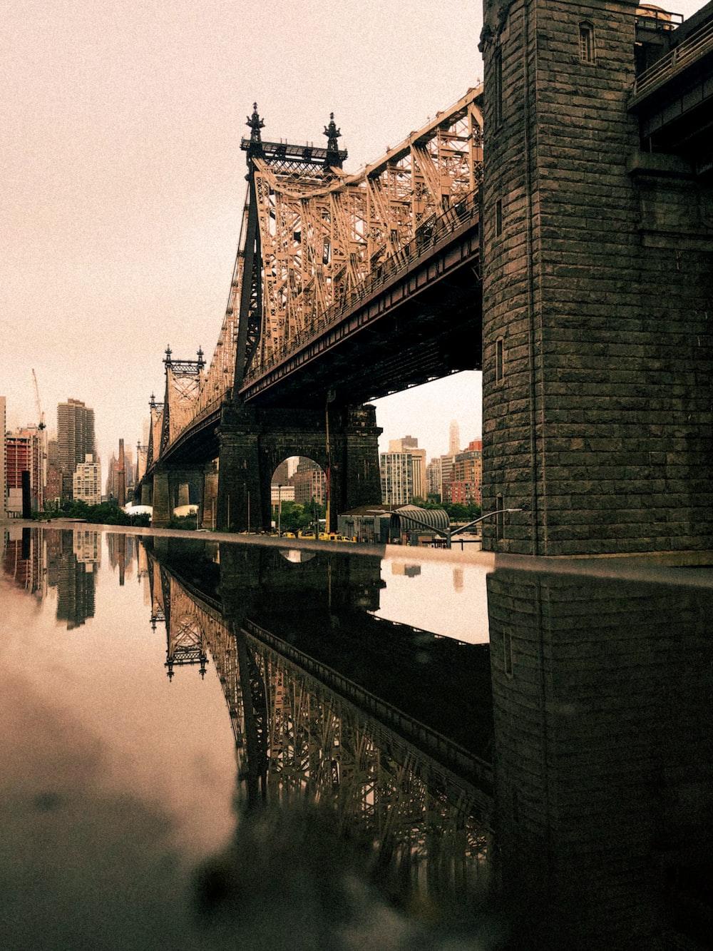 beige concrete bridge