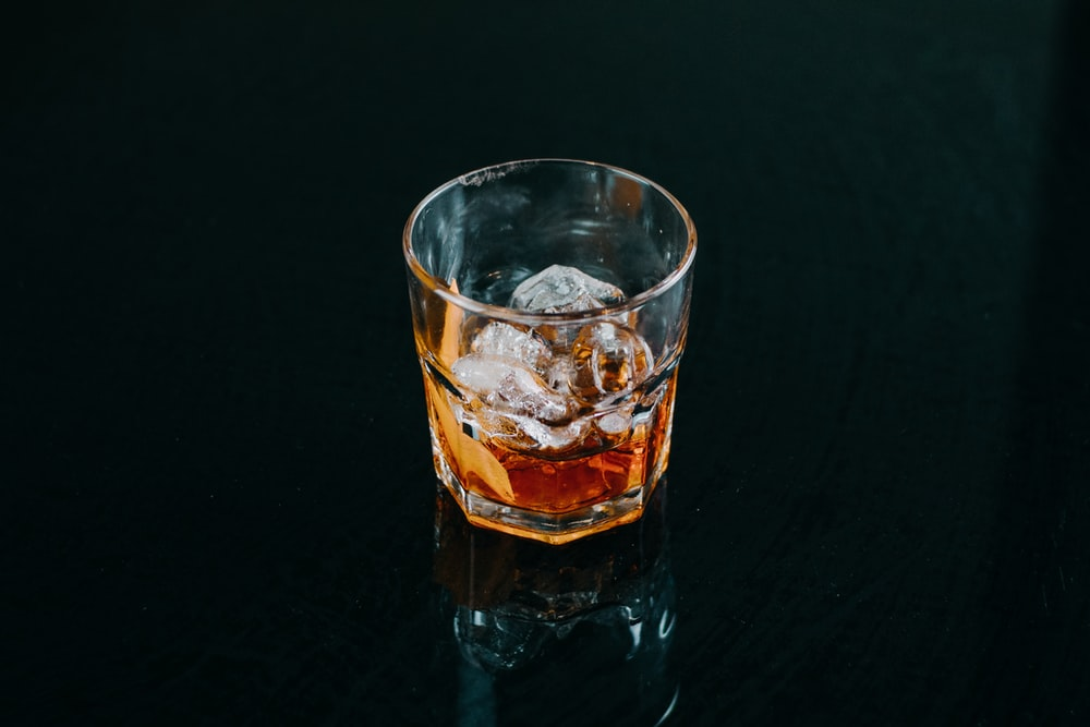 filled liquor cup