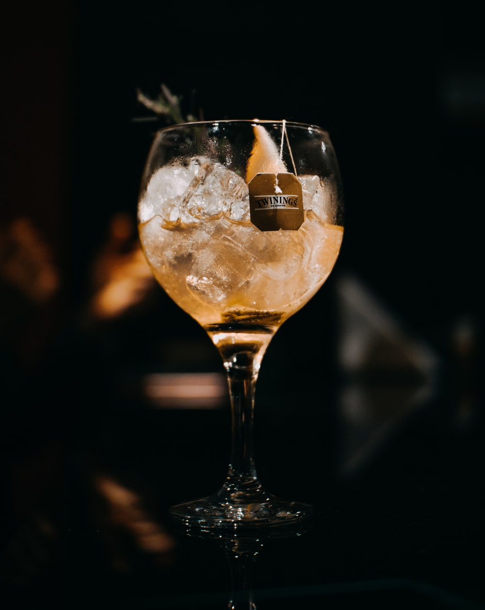 selective focus photo of cocktail glass
