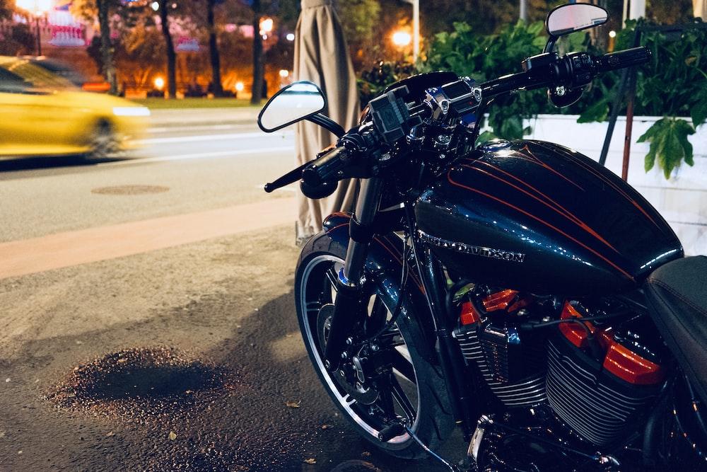 black and brown motorcycle