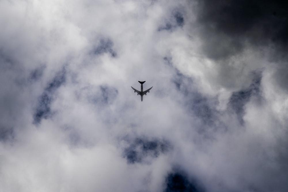 low angle photo of airplane
