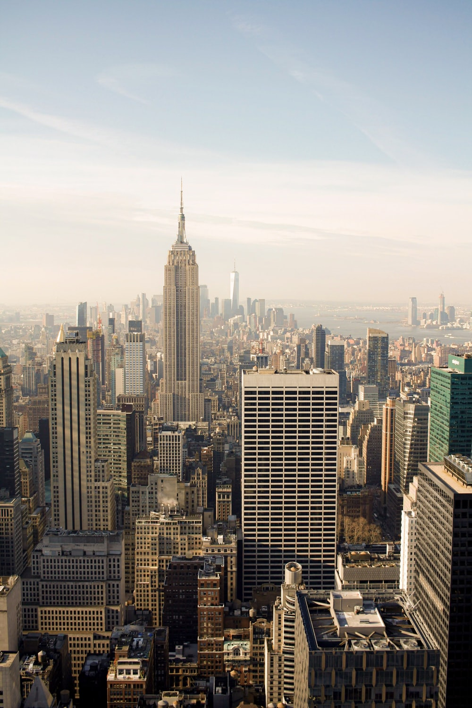 aerial photography of New York city skyline