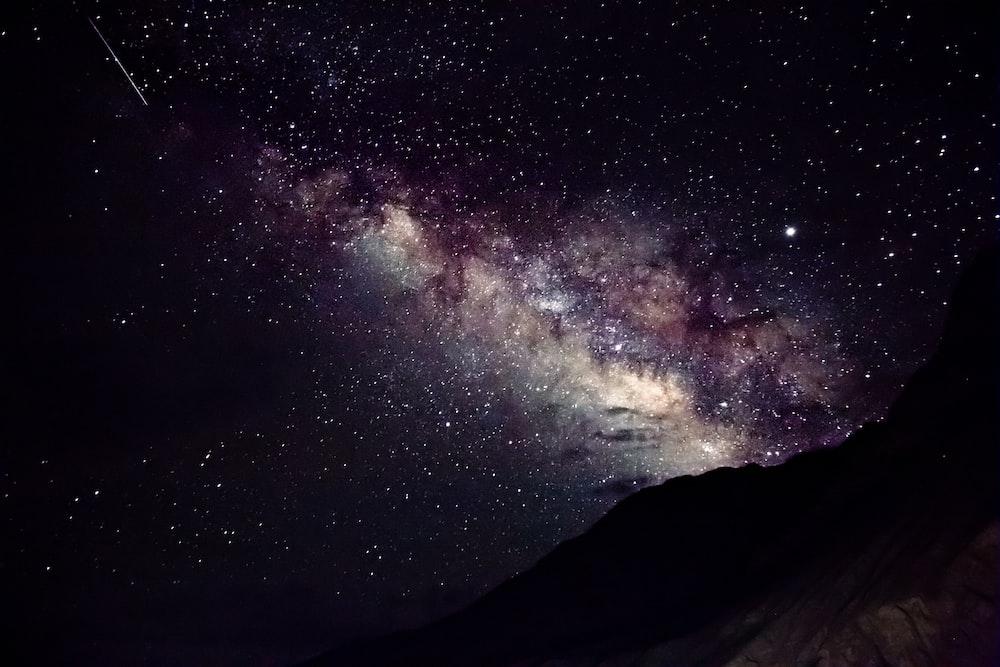 starry purple and gray sky