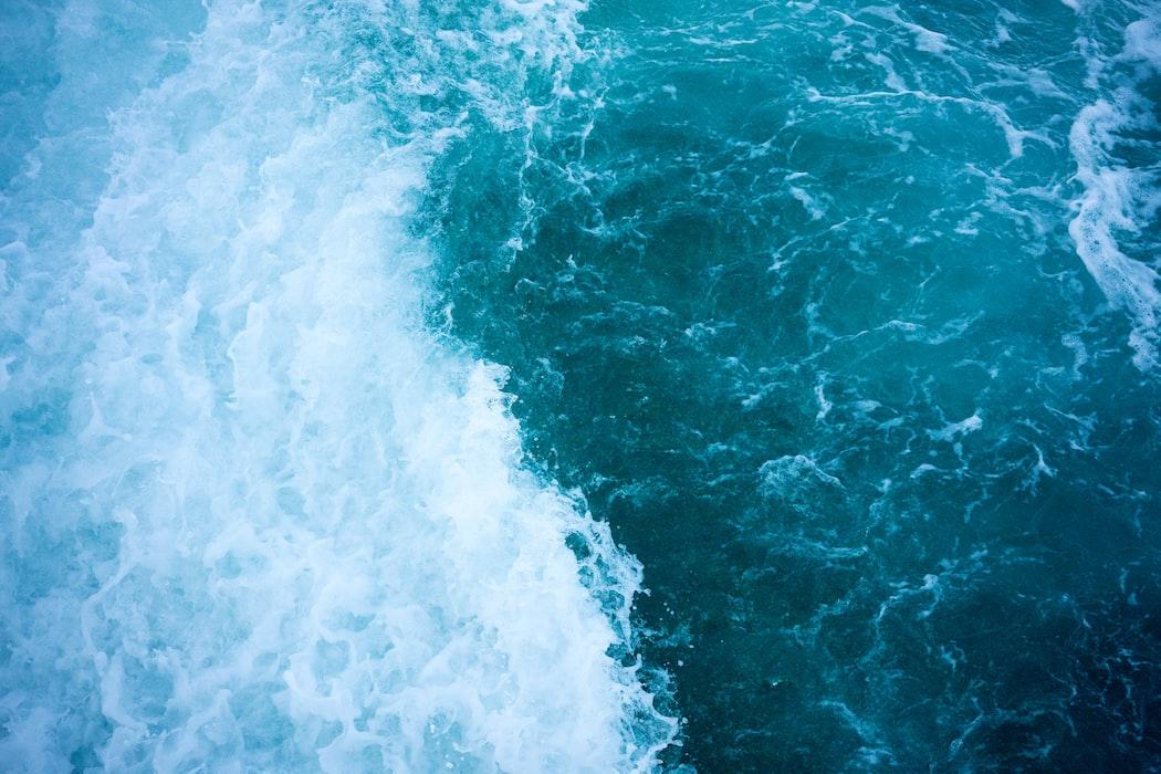 Waves in an Istanbul beach