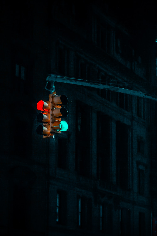 brown traffic light