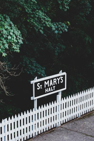 St. Mary's halt signage