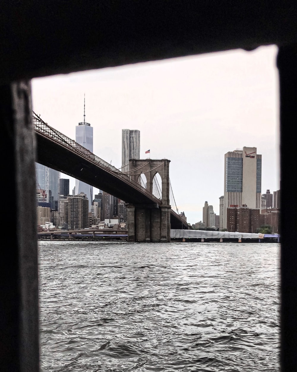 close-up photography of Brooklyn bridge