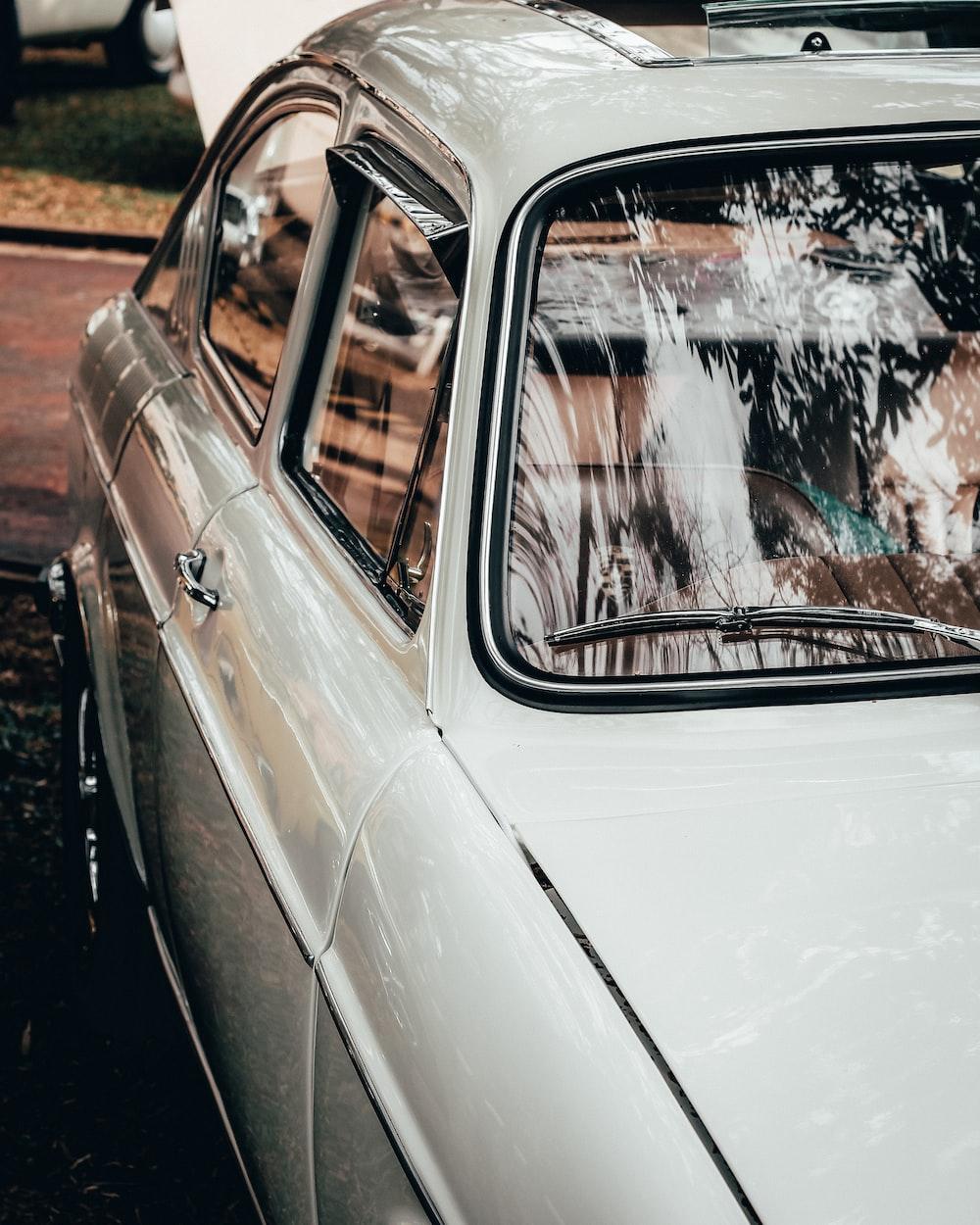 white sedan