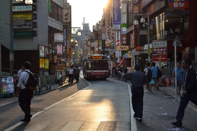 Musashino people walking in street