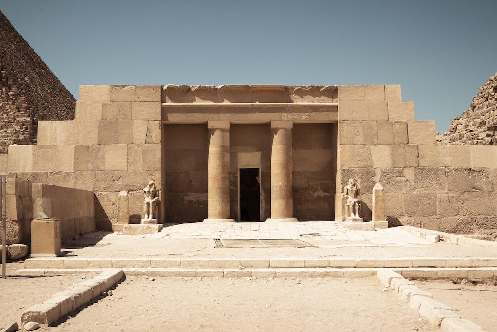 The Mortuary Temple Of Khufu at Giza Pyramid