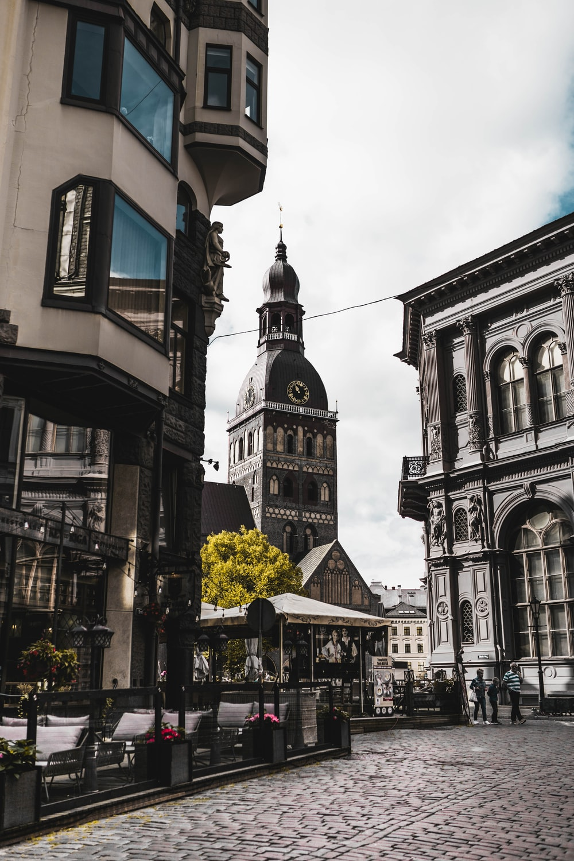 gray buildings