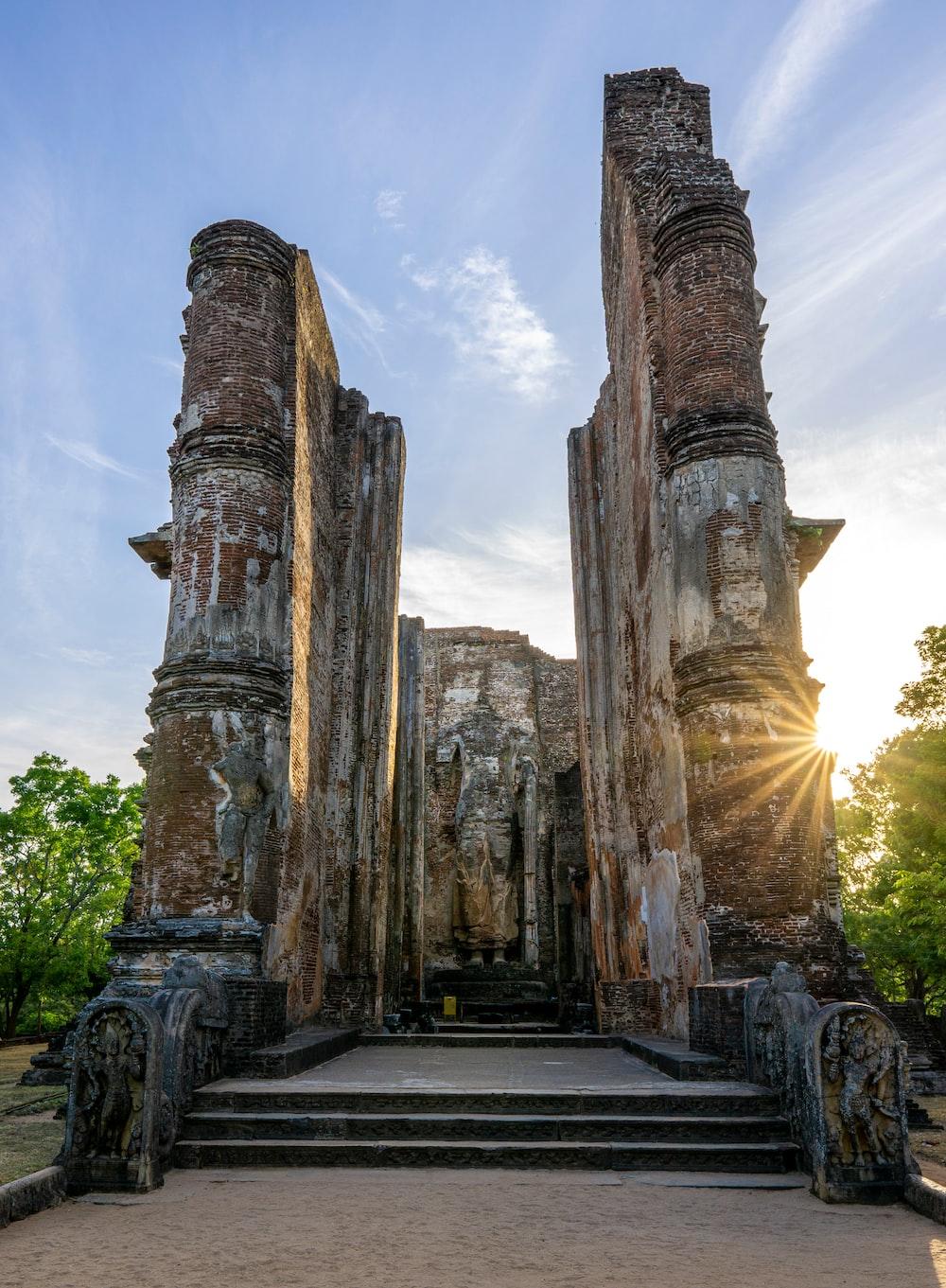 photo of concrete temple
