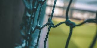 blue metal barbwire
