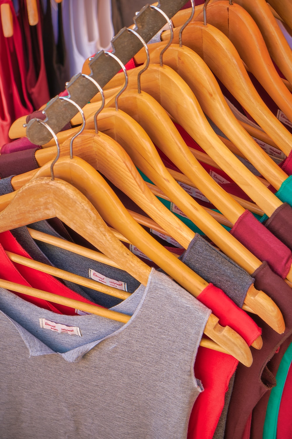 hanged assorted-color tops