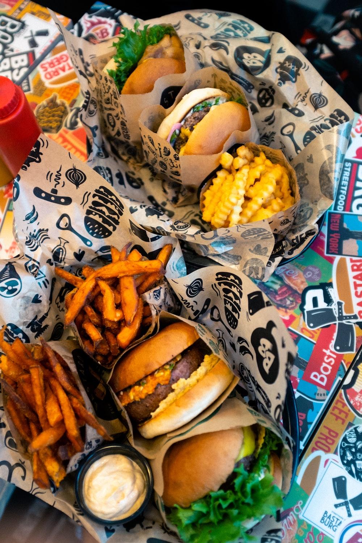 burger and fries food