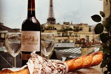 bread near wine