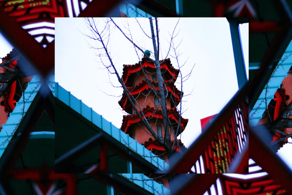 red Chinese tower photo