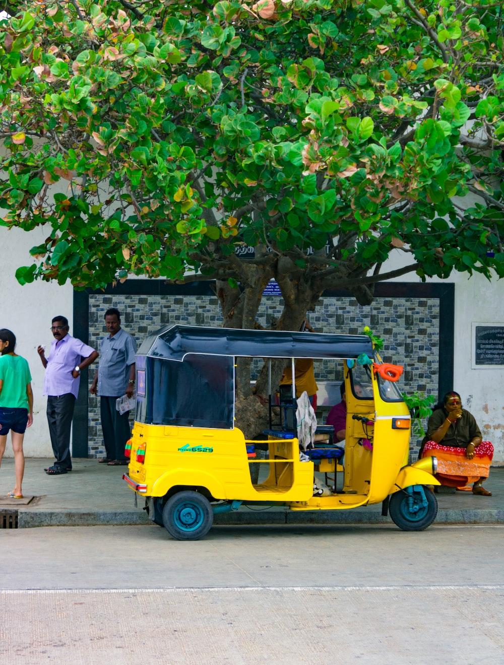 parked auto-rickshaw